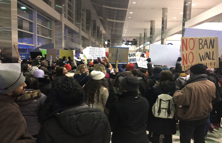 #NoBanNoWall Airport Protest