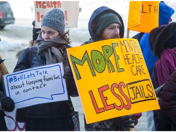 #BellLetsTalk Protests