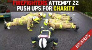 #22PushupChallenge firefighters pushups