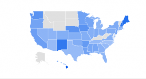 #DeleteFacebook Use of Hashtag by State